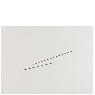 1976.21 Untitled [from <br>the series Four Variations of <br>Two Diagonal Lines]