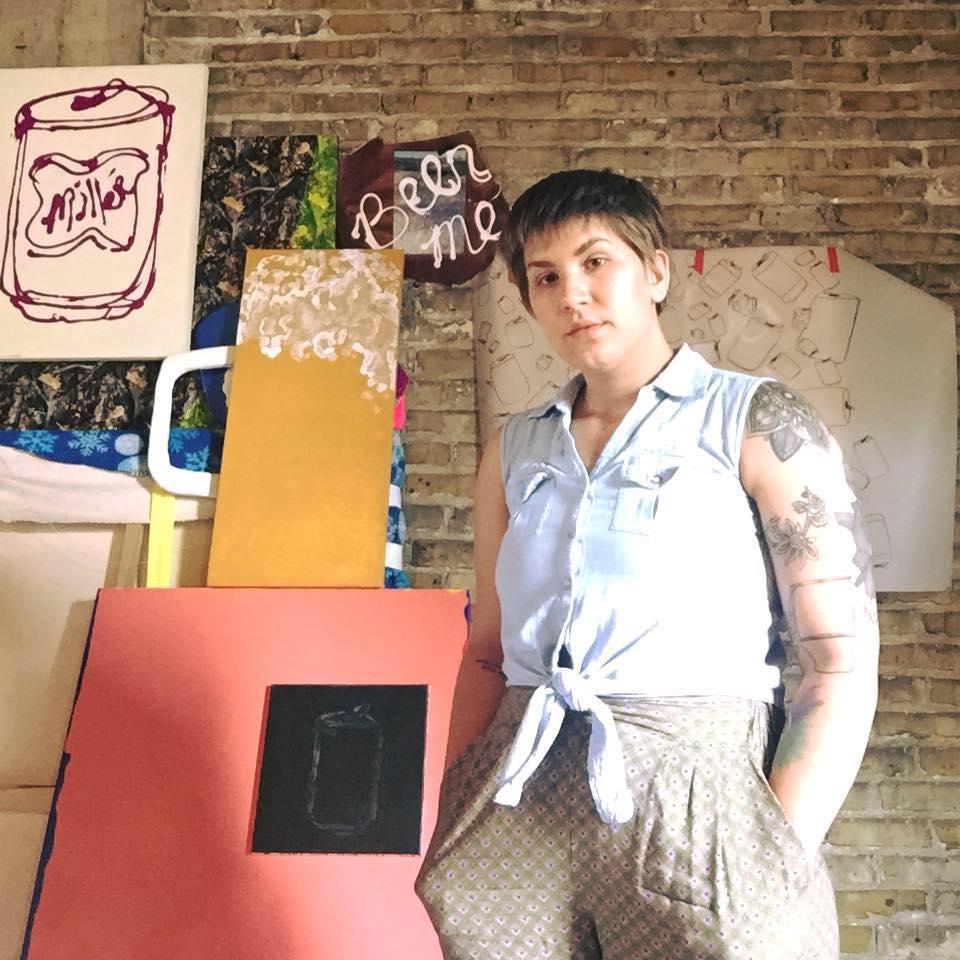 Rachel Hausmann, Portrait of the artist in their studio, 2018