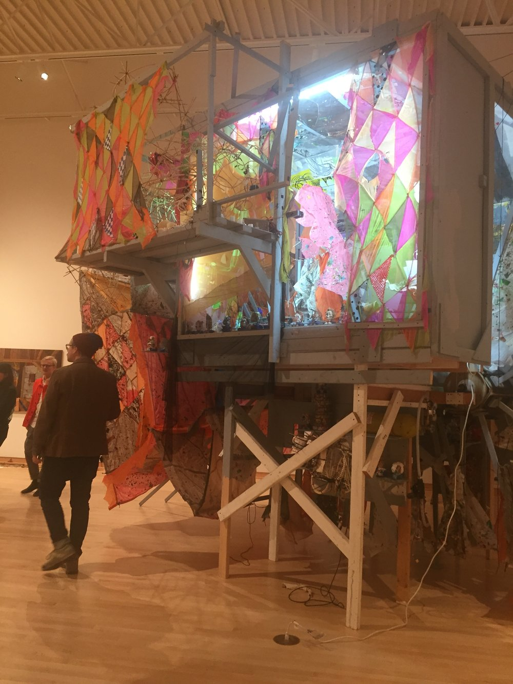 View of Greg Smith's installation as part of  Makeshift