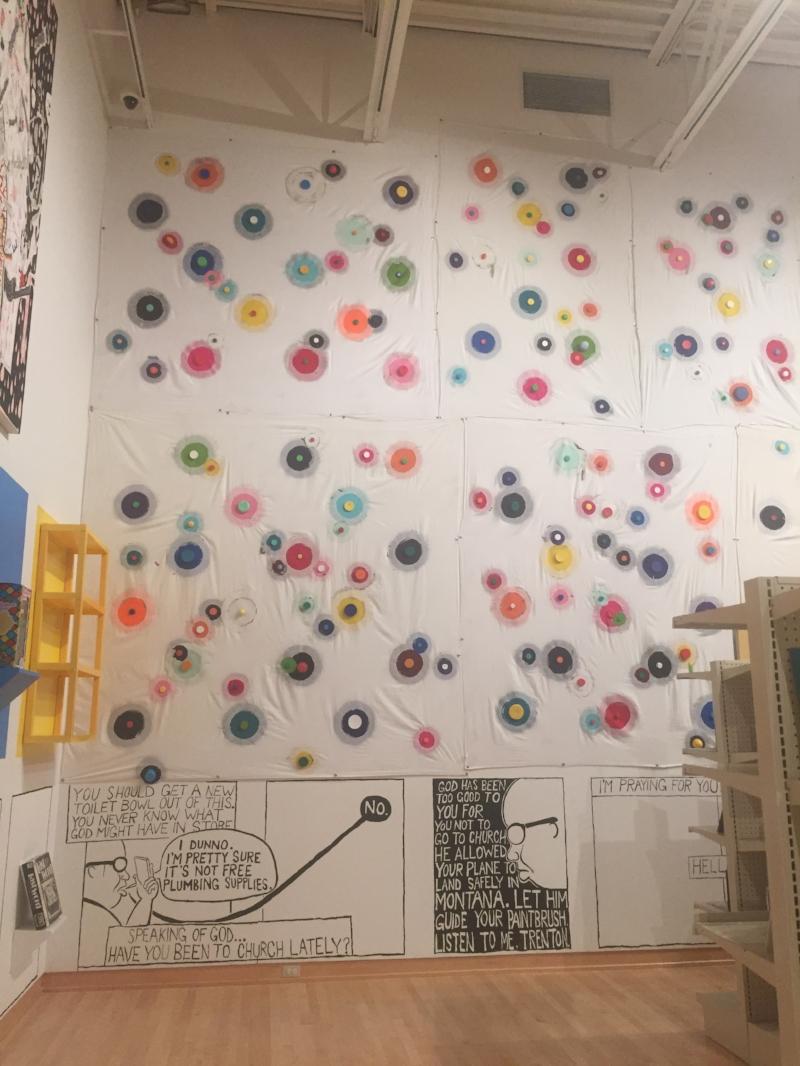 Part of Trenton Doyle Hancock's installation in  Makeshift