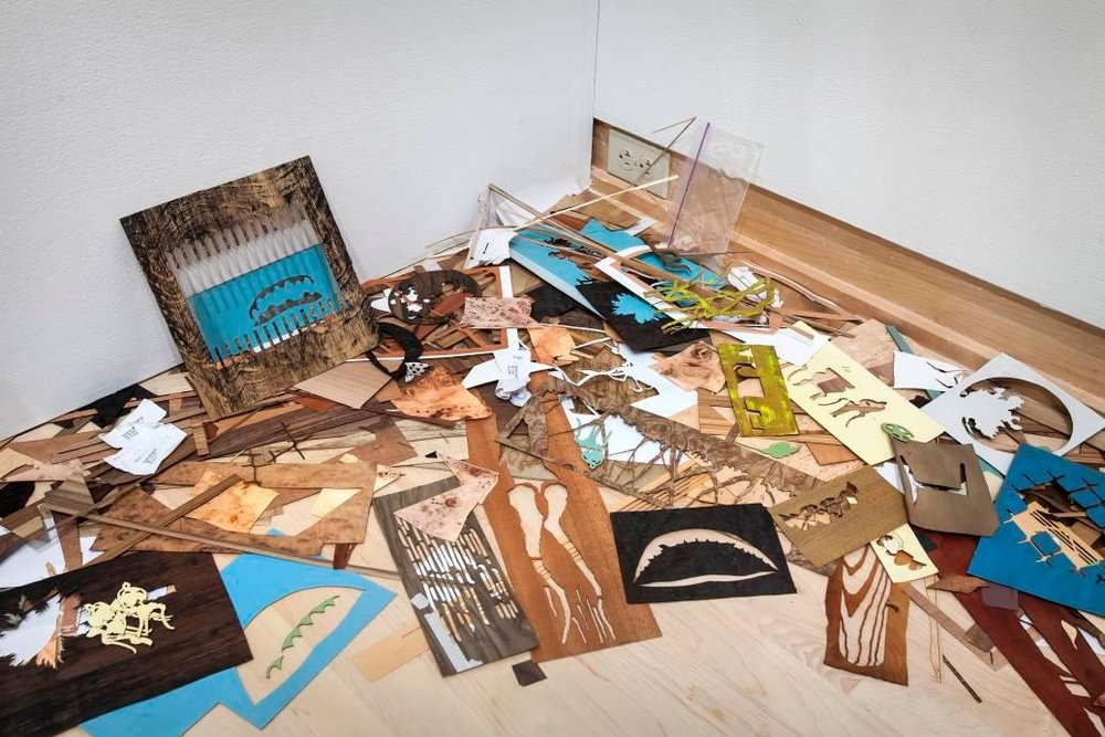 Installation view,  Makeshift , Allison Elizabeth Taylor, image courtesy of JMKAC