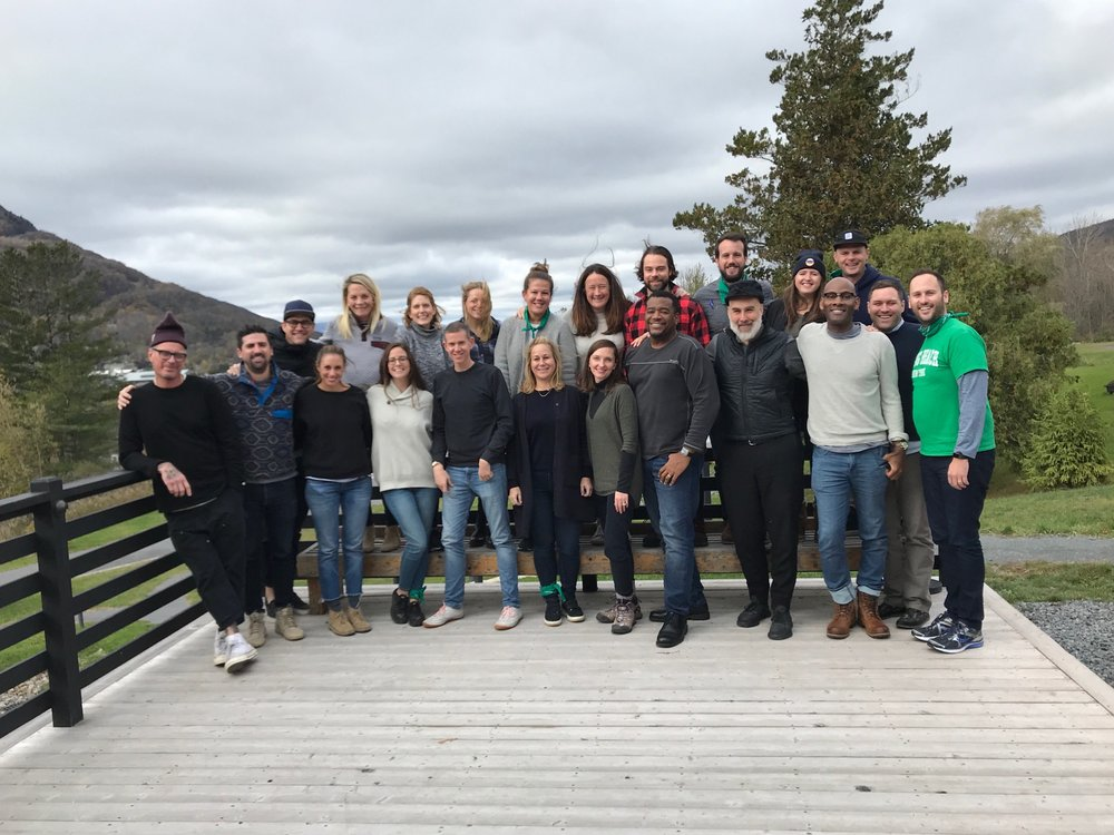 Micky and the Bonobos senior leadership team during a 3 day WYLD retreat at Scribner's Lodge in the Catskills, NY.