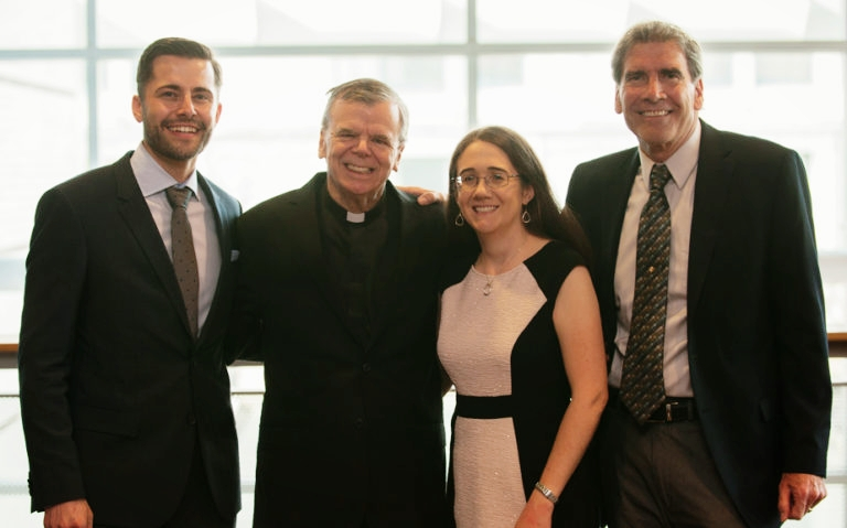 Jeremy Lile, Rev. Norman Douglas, Sarah Sturbaum, and Larry Vuillemin