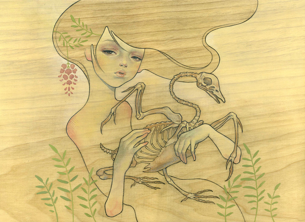 "11""x16"" oil and graphite on wood panel. 2006.  'Venus' at Roq La Rue Gallery. Seattle, US."