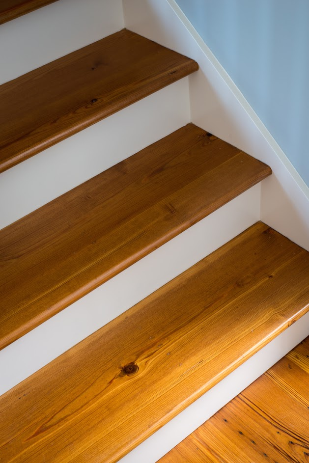 Reclaimed Heart Pine Stair Treads