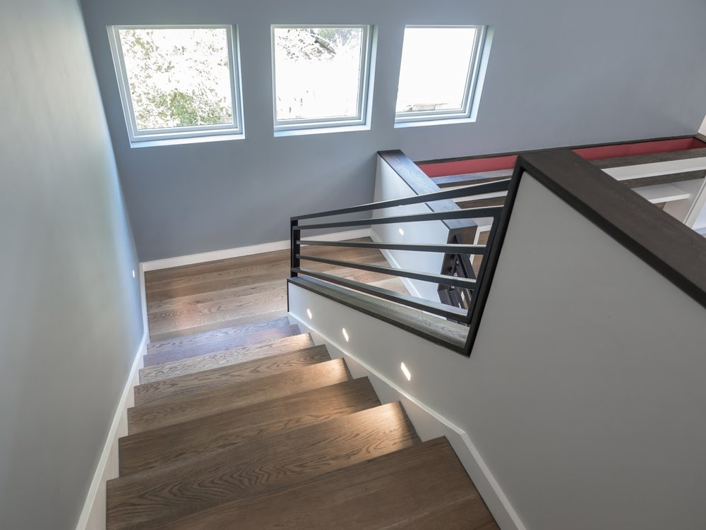 Custom White Oak Stair Treads