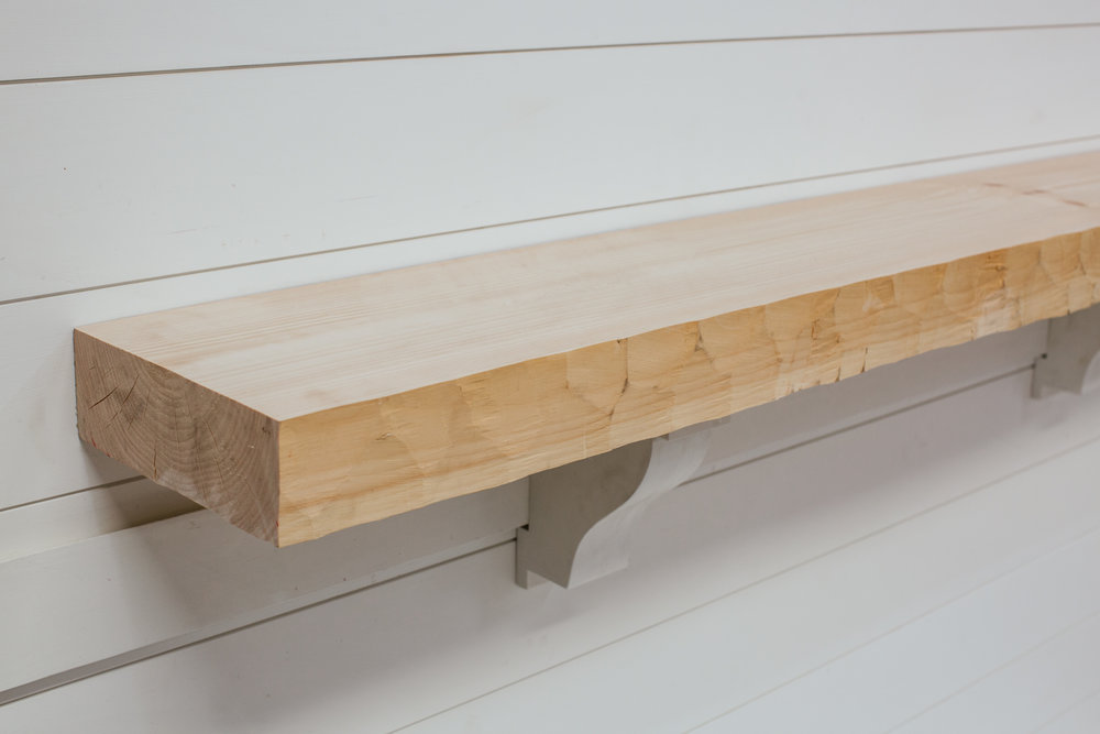Textured Timber Mantel from Water's Edge Woods