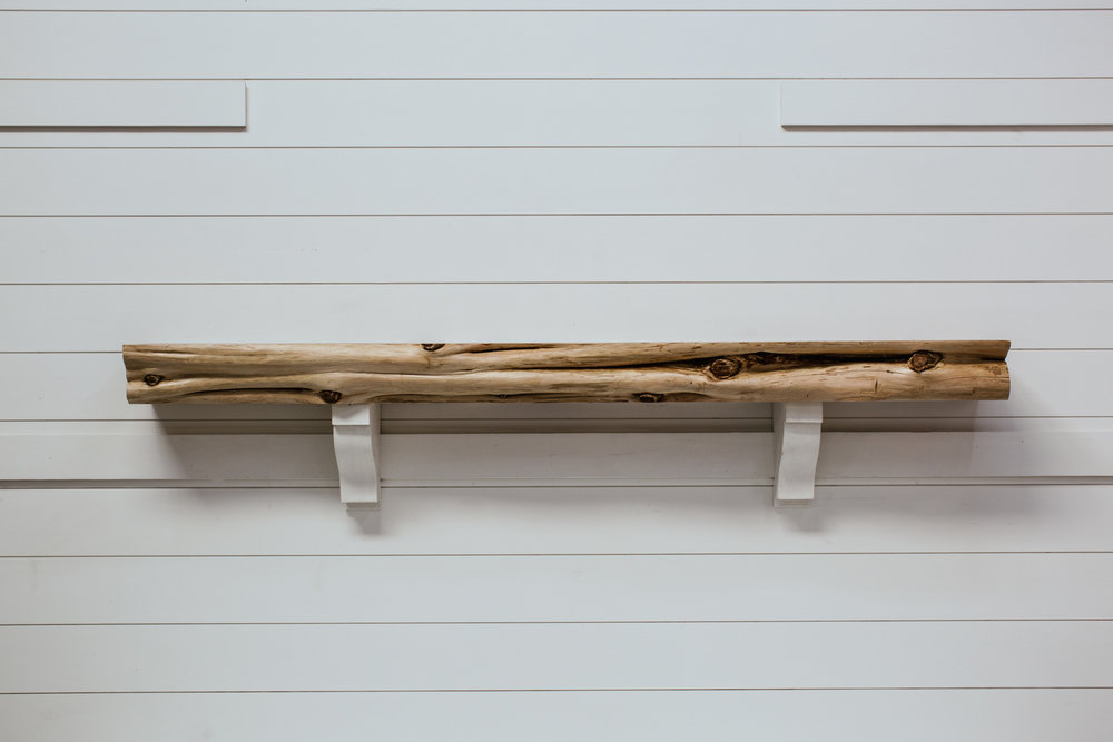 Live Edge Timber Mantel from Water's Edge Woods