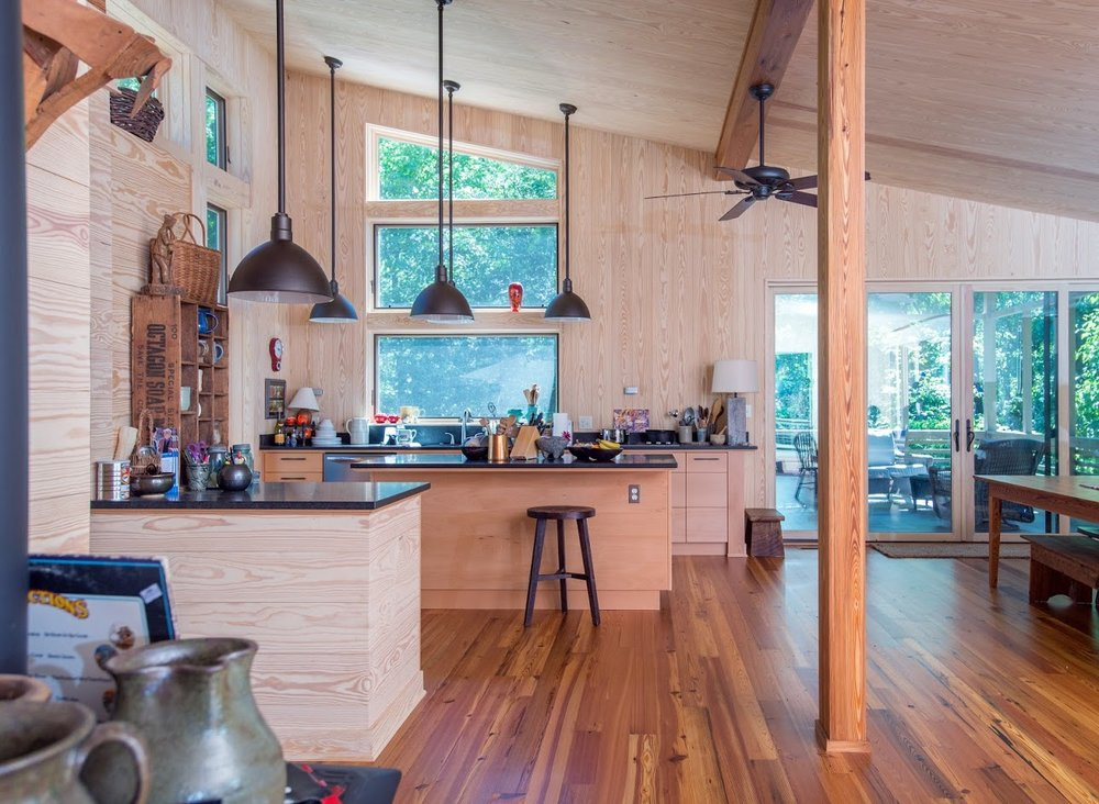 "Reclaimed Heart Pine Flooring (4.25"" Face width)"
