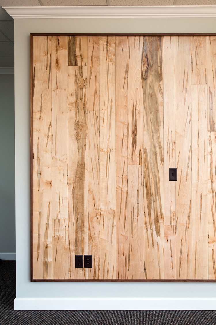 Ambrosia Maple Flooring as an Accent Wall