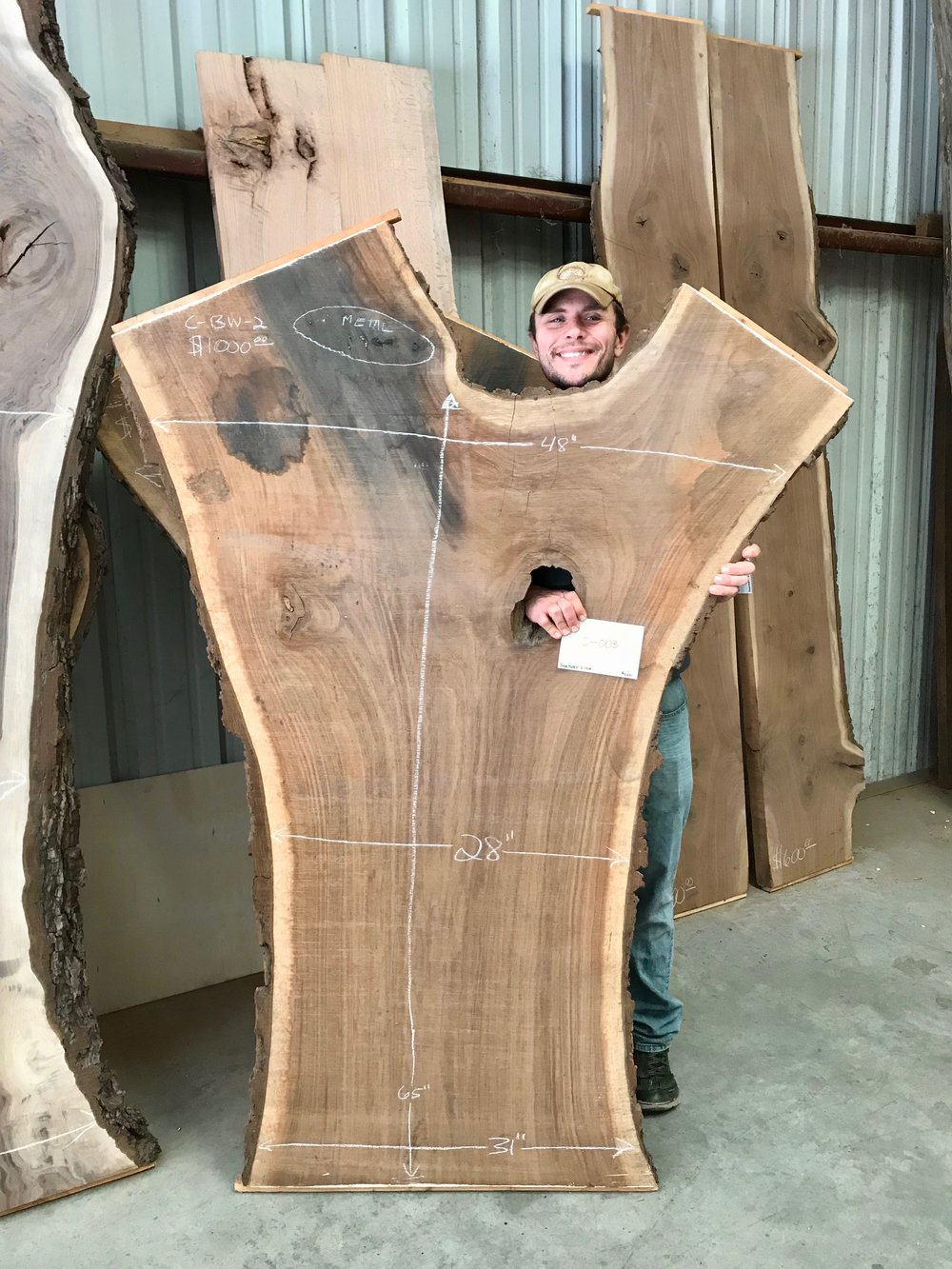 Live-Edge Slabs from Water's Edge Woods