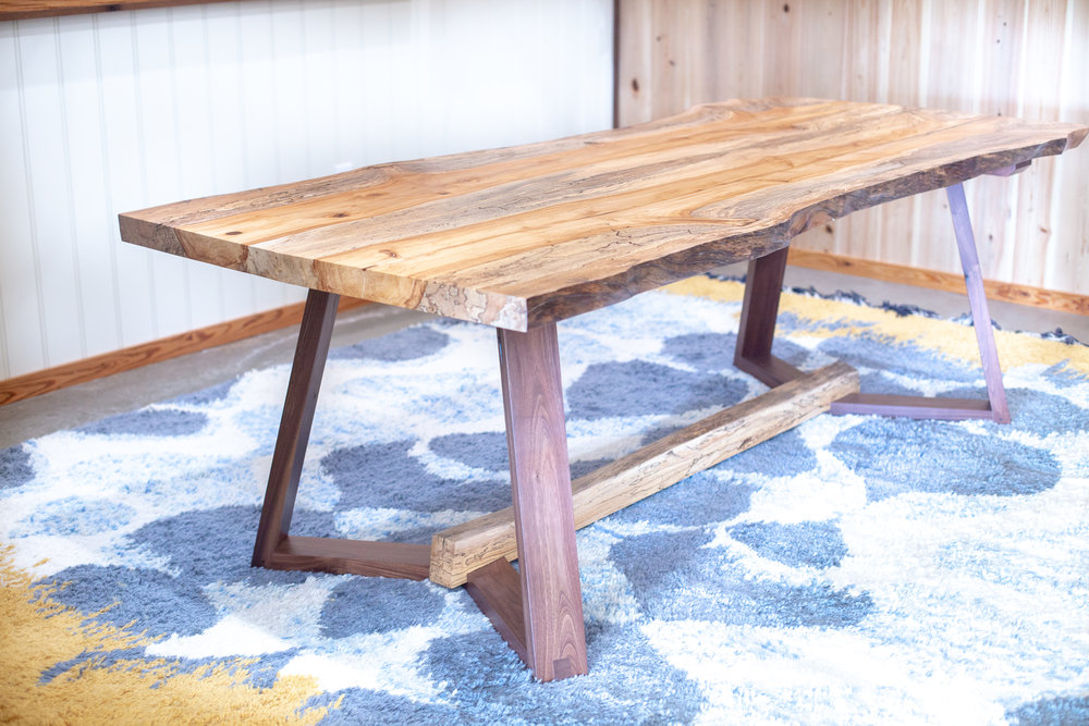Live-edge Quartersawn Spalted Sycamore Table