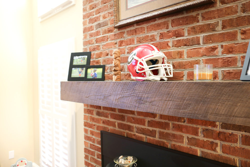Weathered Old School Oak Mantel