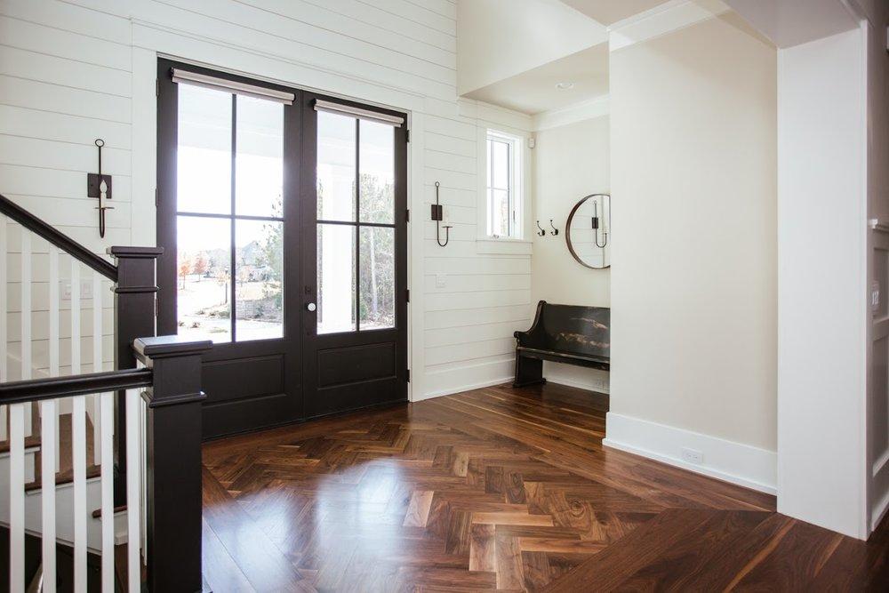 Black Walnut Herringbone Flooring