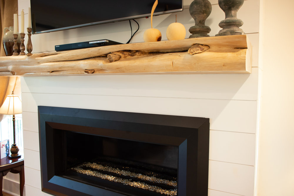 Blonde Live-edge Cedar Mantel