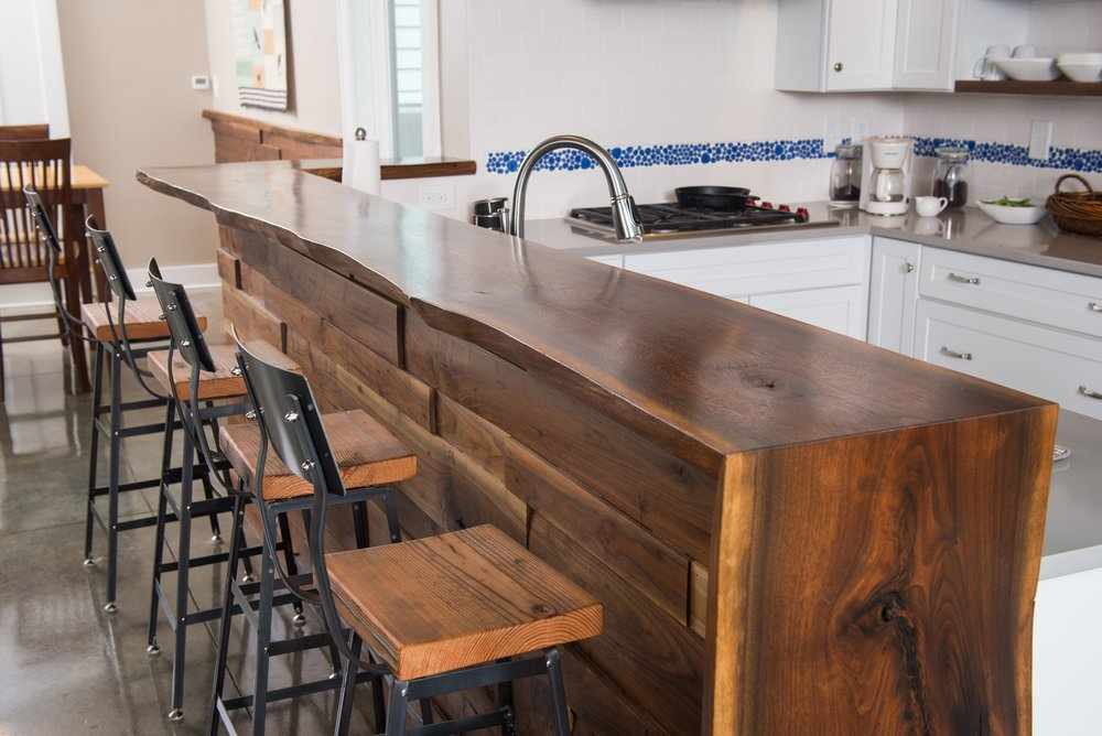 Live-edge Walnut Countertop