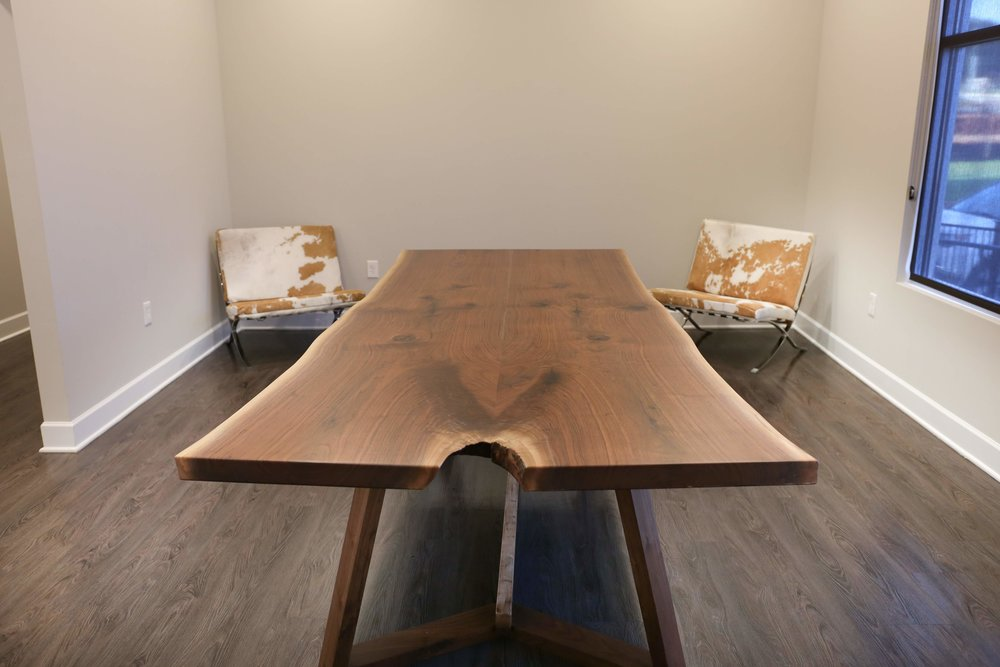 Live-edge Black Walnut Table