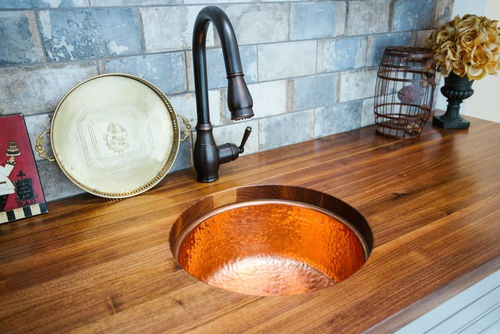 Undermount sink and Black Walnut Countertop
