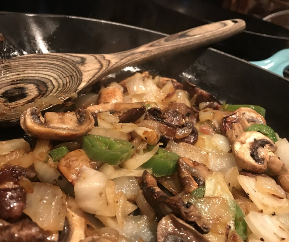 panfried veggie skillet -