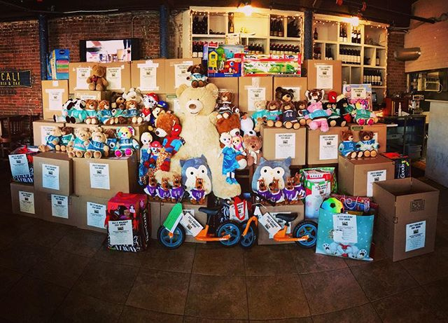 These are all toys donated for the annual toy drive in memory of Mark Frattaroli. A special thanks to who donated the toys and a special thanks for the Frattaroli's Family, Filippo, Anna, Philip, Jessica, Daniella, Kelly and Benny that every time they dedicate their commitment, love and sacrifice for this very important event. Thank you everyone!