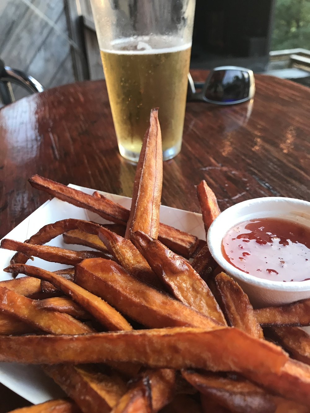 Not feeling chips and salsa at the Burrito Bar? Sweet potato fries all the way.