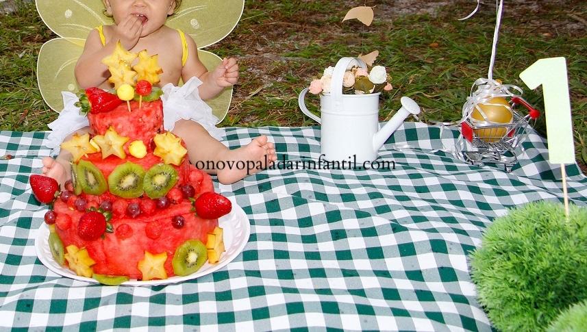 Bolo de melancia com frutas!