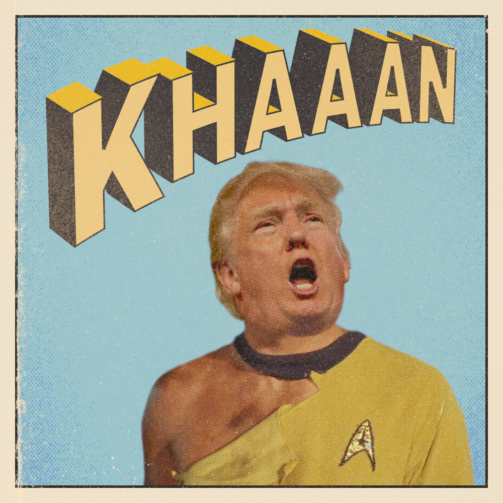 A personal piece I did during the election and at the time Trump was having a feud with Khizr Kahn.