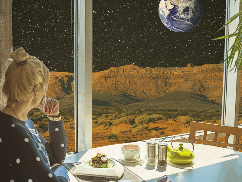 Thrillist article on the idea that making food taste better in space would help colonize Mars.