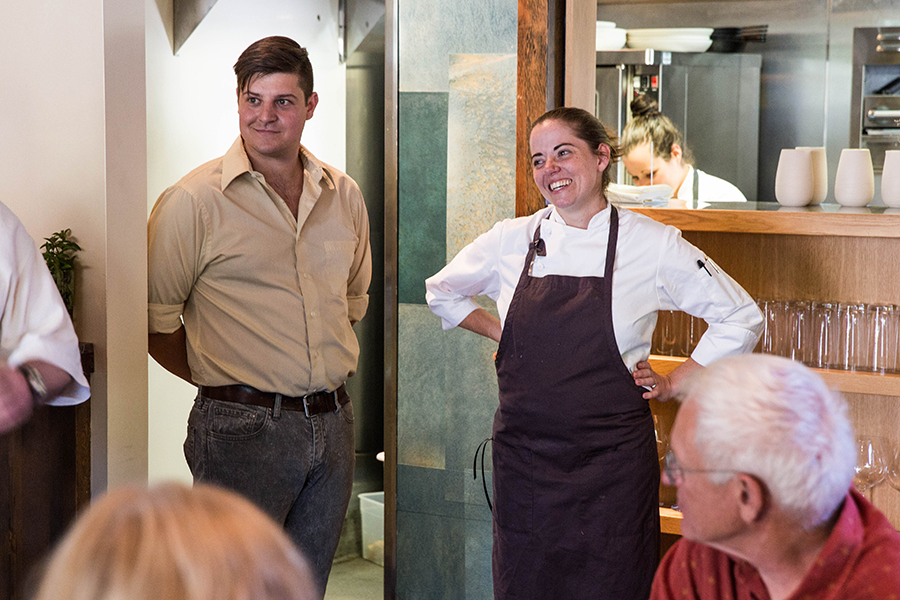 The first-ever dinner at Coquine
