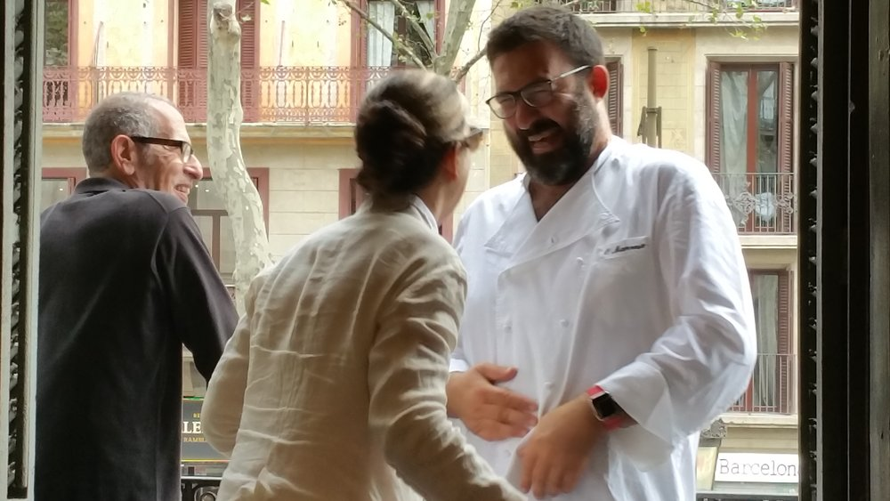 Hobnobbing over La Rambla with Chef Manresa