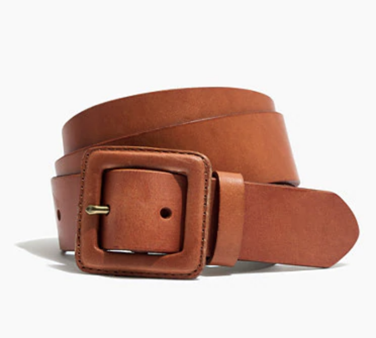 Madewell Leather Covered Belt Buckle  , $55