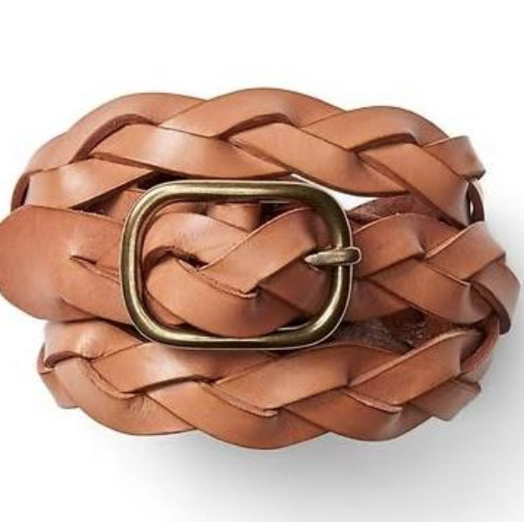 Gap leather braided belt