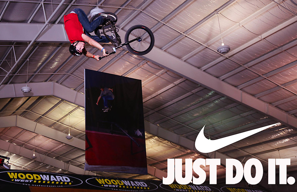 - A branded image from the Nike Chosen Event at Woodward, CA.