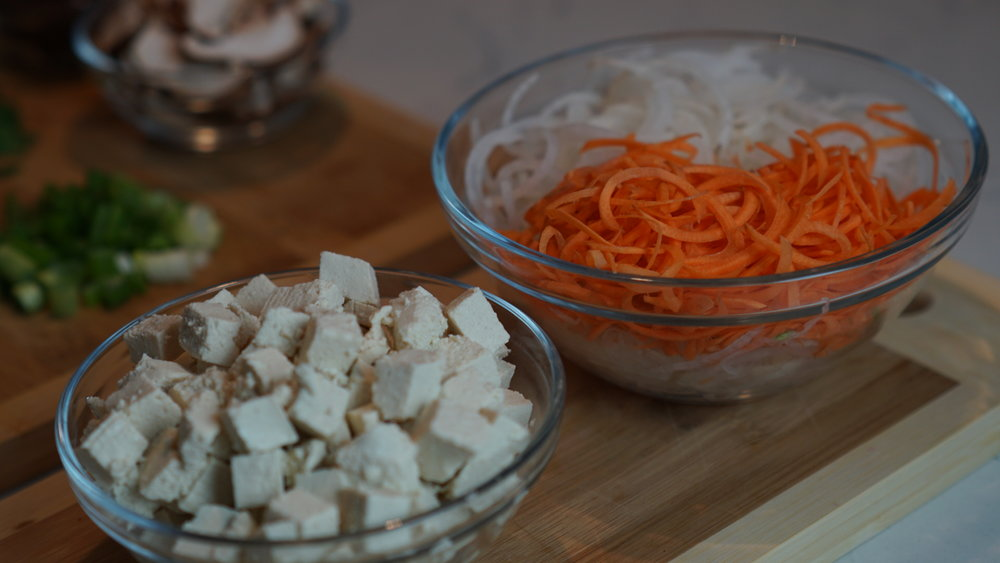 tofu + carrot + daikon