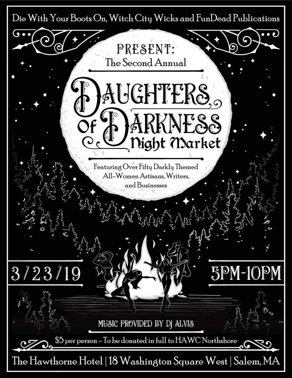 Daughters of Darkness Market - Super excited, I will be at the Daughters of Darkness market at the glorious Hawthorne Hotel in Salem Ma. It's on March 23, and goes from 5-10pm. Its a curated craft market of female-led businesses with a gothy vibe. I've been carving up so many awesome new gravestone prints to sell, can't wait to see you there!
