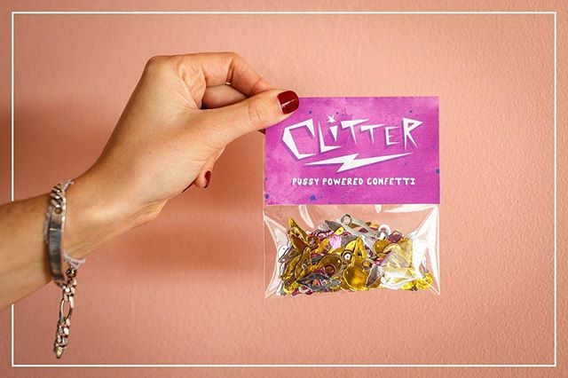 Backer reward 1: one bag-o-clitter, plus stickers!  #clitter #clitterparty #clitterbomb