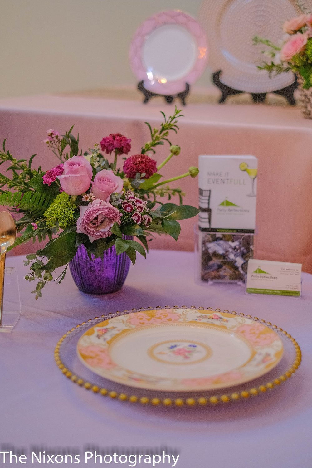 Photo by The Nixons Photography, Flowers by Botanica, Rentals by Party Reflections