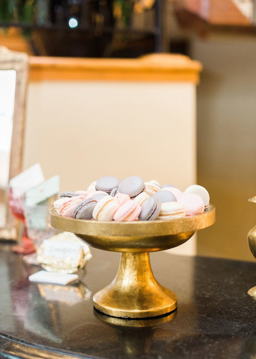 Photo by Annie Timmons Photography, Sweets by Macarons by Aline, Rentals by Eventful NC