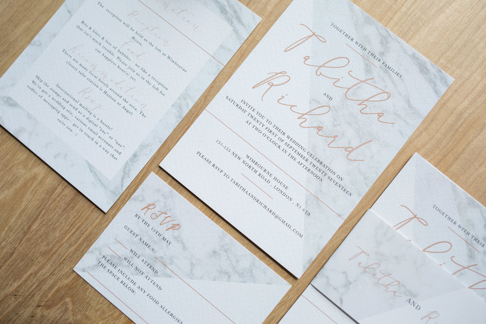 Modern Marble Wedding Stationery Set