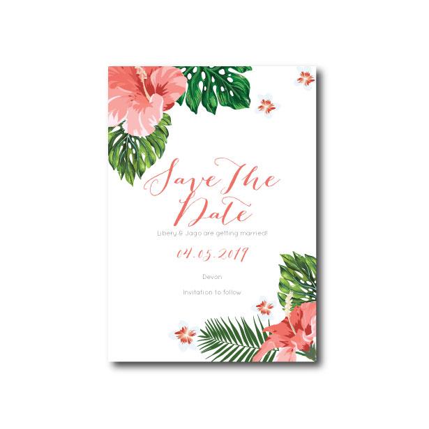 Hawaiian Tropical Save The Date - A6