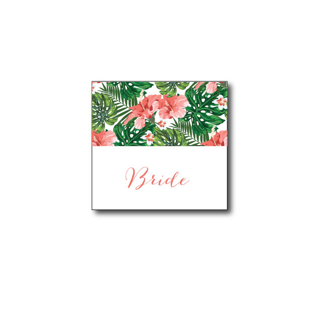 Hawaiian Tropical Place Name - 95mm x 45mm