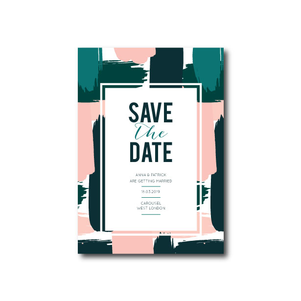 Abstract Art Save The Date - A6 or A5