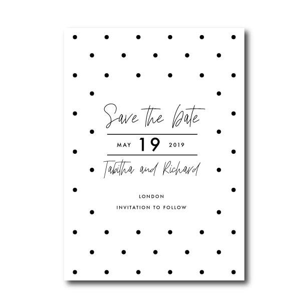 Speckle Wedding Save The Date - A5 or 5x7