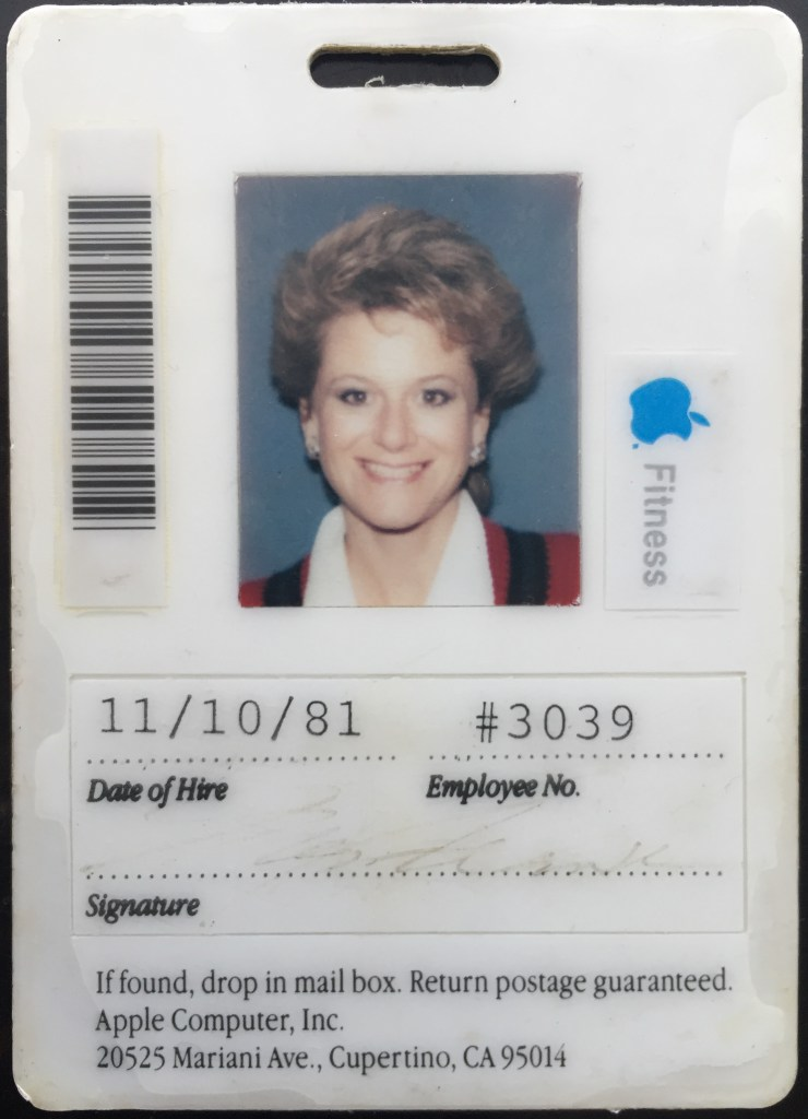 Ellen's Apple ID Badge from 1981