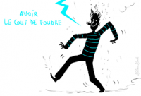 Un coup de foudre : a lightning stroke - a bizarre french idioms used in the common language