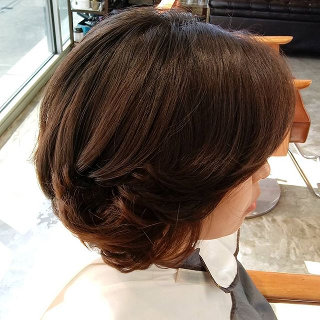 ❤Short&wave perm by Angie #settingperm
