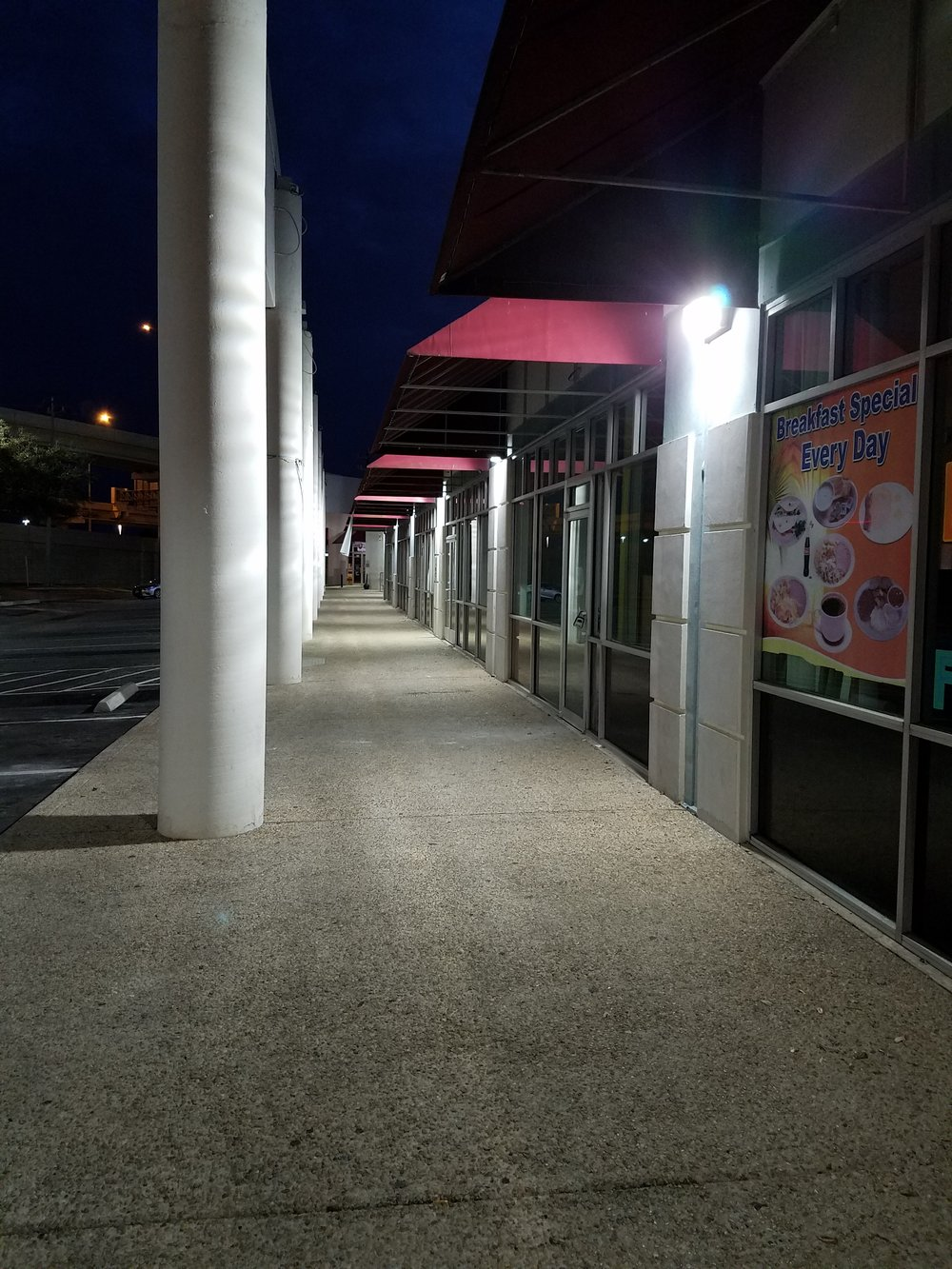 Walkway after upgrade - LED wallpack fixtures
