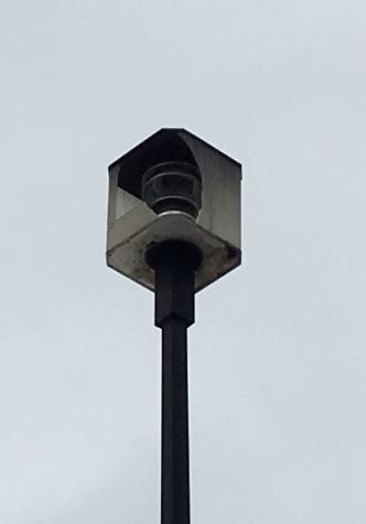 Existing parking lot fixture