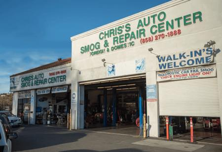 Chris's Auto Smog & Repair Center Pacific Beach.