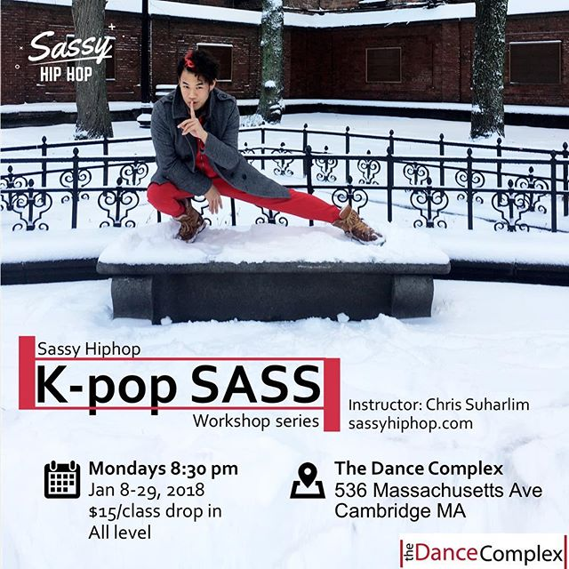 Join @csuharlim for a special Sassy Hiphop workshop series working on K-pop music video choreographies only at @thedancecomplex . . . #sassyhiphop #sassyhiphopwithchris #sassy #sass #hiphop #hiphopdance #dancehappenshere #dancecomplexma #mydancecomplex #bosdance #bosarts #dance #dancer #choreography #coverdance #dancecover #kpop #kpopdancecover